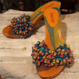 Amanda beaded sandals